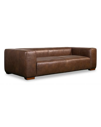 Plush 3 Seater Leather
