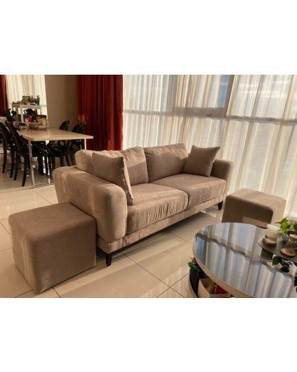 Hera 3 Seater Fabric